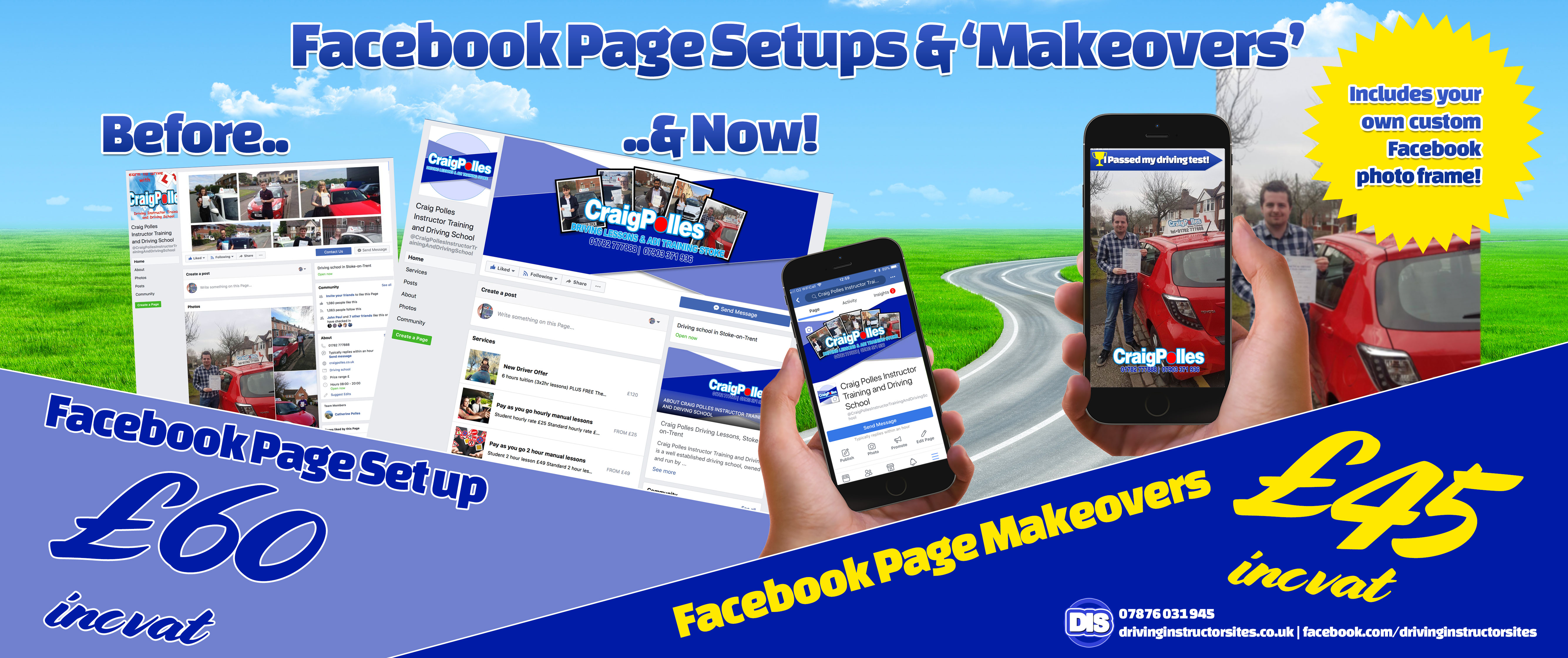 get your facebook page makeover from Driving Instructor Sites