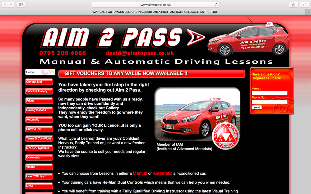 Aim 2 Pass School of Motoring