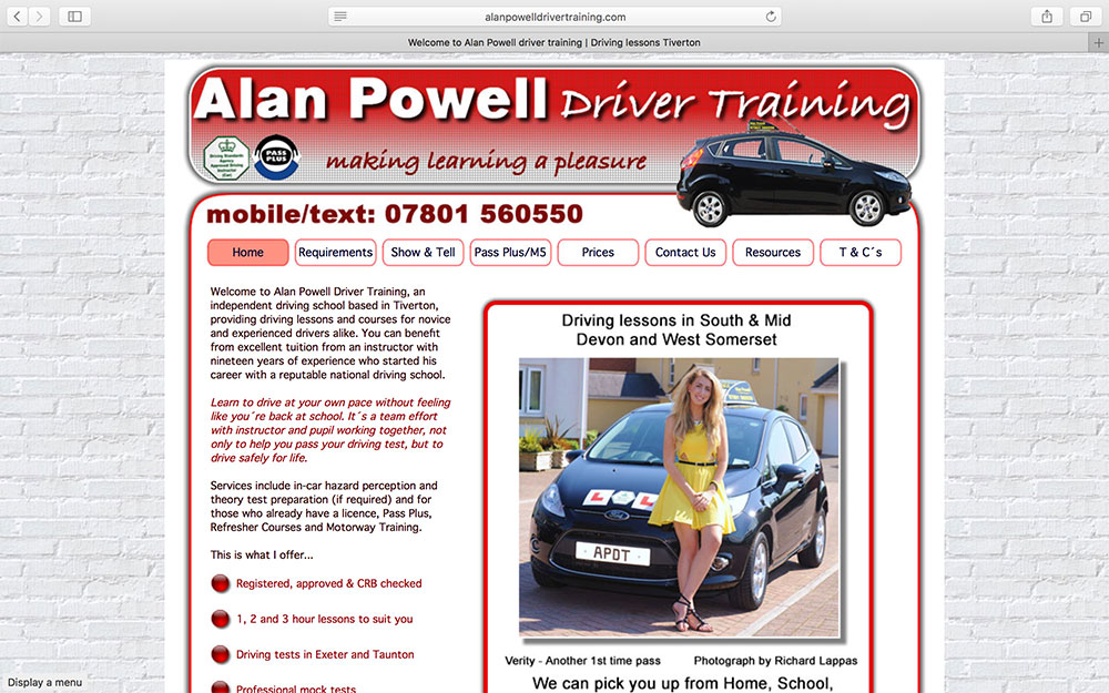 Alan Powell Driver Training