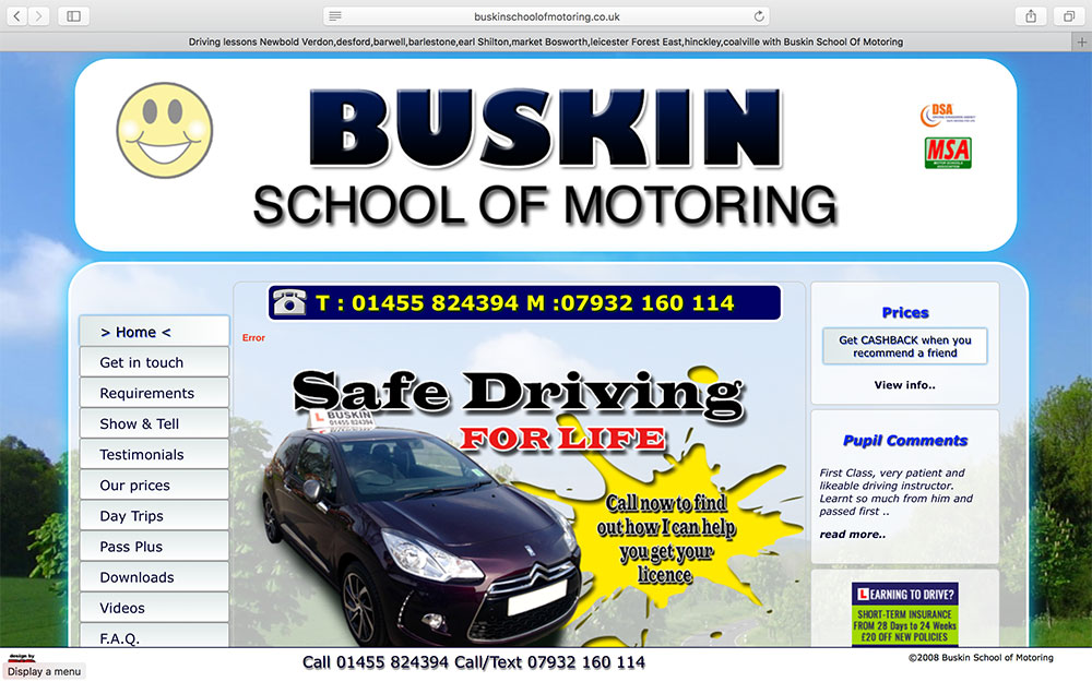 Buskin School of Motoring