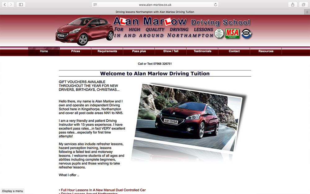 Alan Marlow Driving School