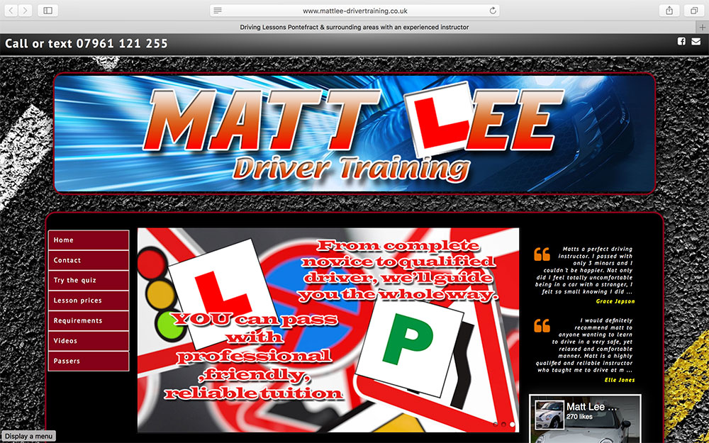 Matt Lee Driver Training