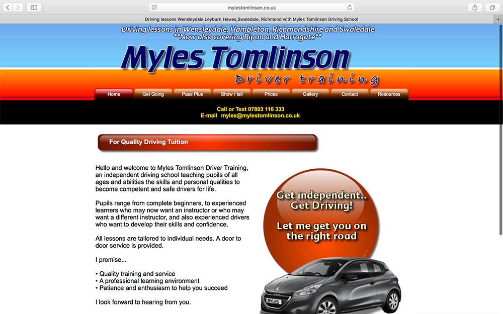 Myles Tomlinson Driving School