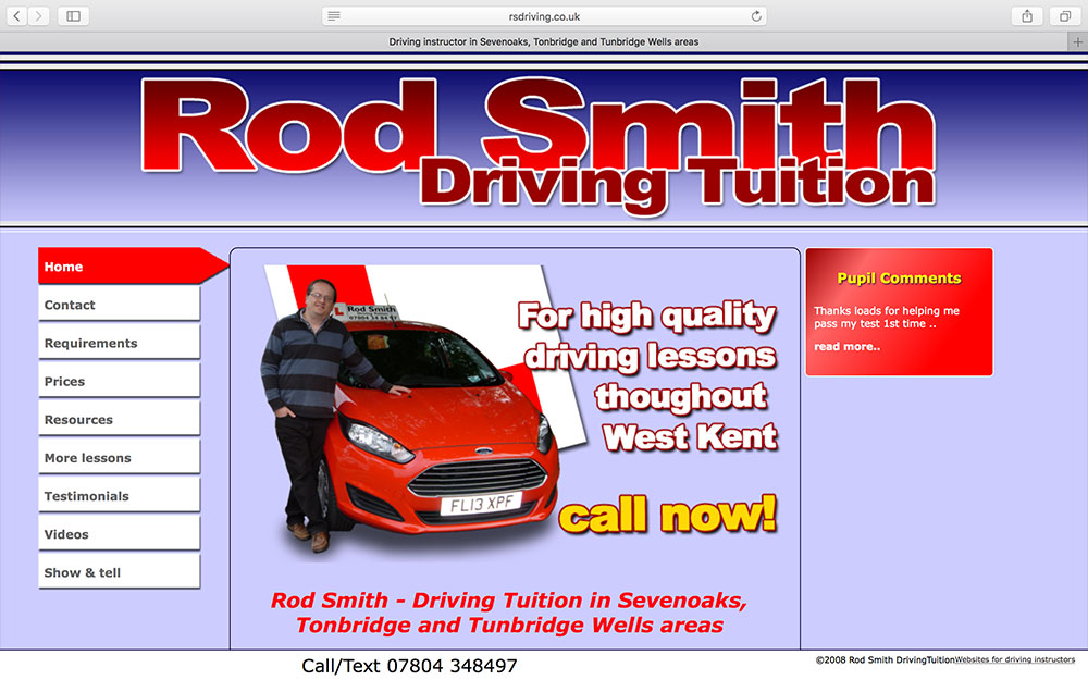 Rod Smith DrivingTuition