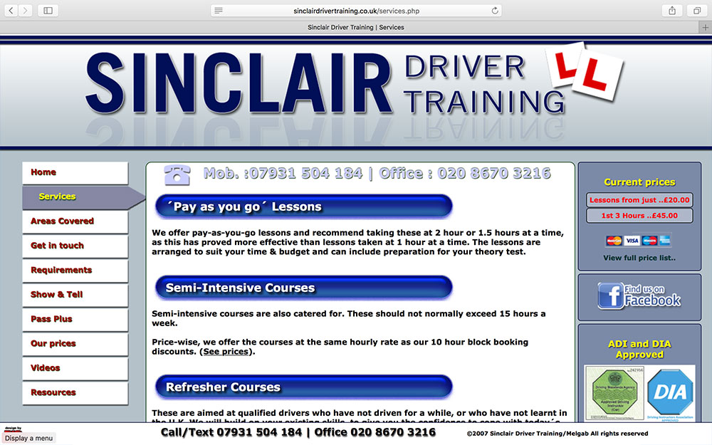 Sinclair Driver Training