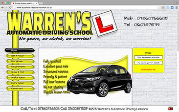 Warren's Automatic Driving Lessons