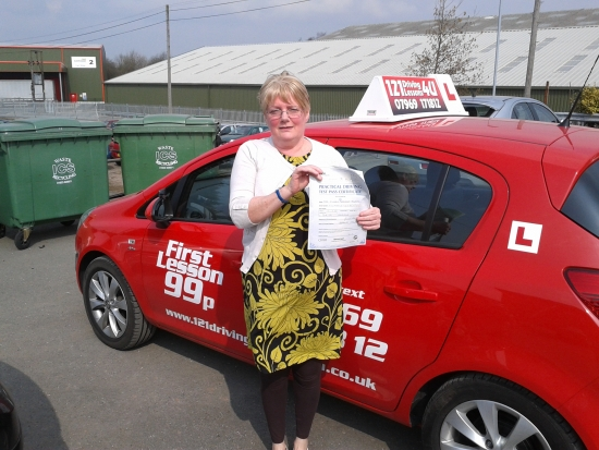 passed April at Sutton in Ashfield Test centre Proving that itacute;s never too late to learn