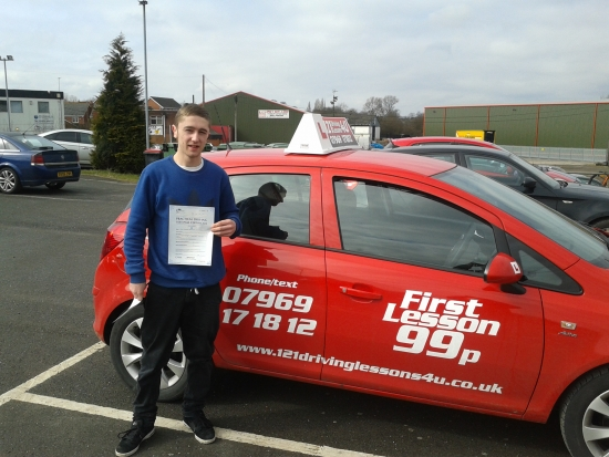from Oaktree passes first time at Sutton in Ashfield Test Centre in March after two cancelled tests due to bad weather