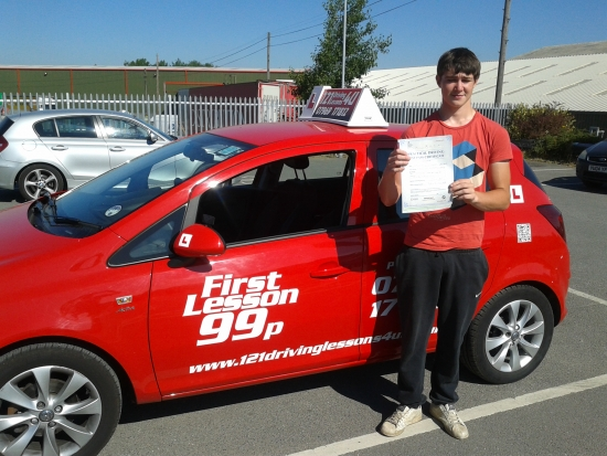 passed first time at Sutton in Ashfield Test centre Another happy chappy
