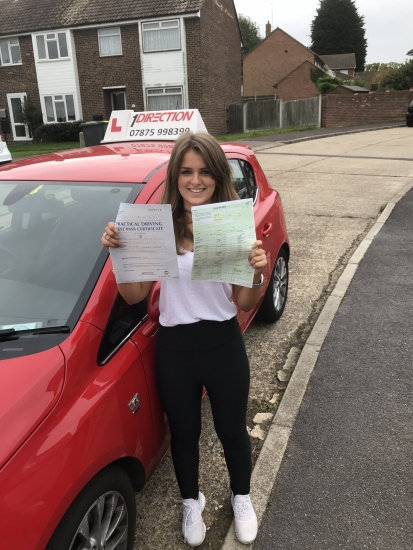 Amazing first time pass with no driving faults whatsoever Well done and happy driving �