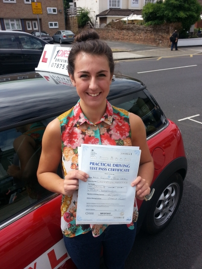 Georgia passed in Hornchurch She drove beautifully to secure a first time pass Well done Georgia