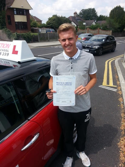 Liam passed first time in Hornchurch He did marvellously well and passed within 12 hours Well done Liam