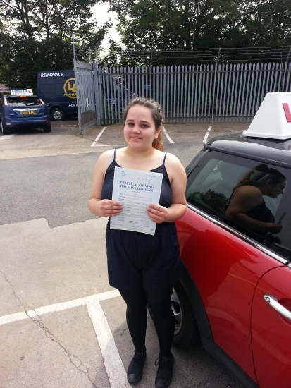 Sophie passed her driving test in Southend Enjoy driving Lily and your new found freedom