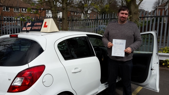 Well done you passed your driving test