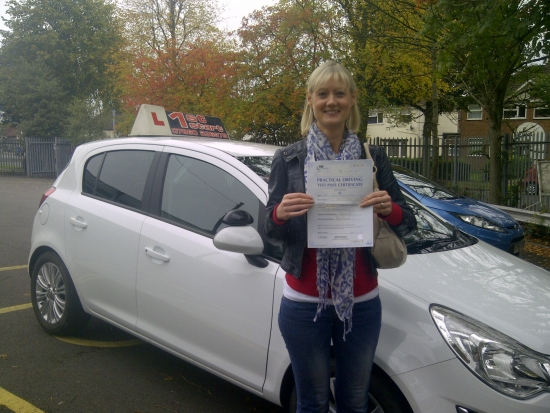 Well done 0 faults on your driving test