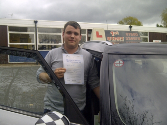Well done Dan 1st time 3 minor faults