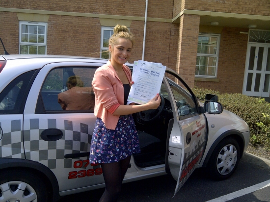 Well done a pass with out any faults congratulations