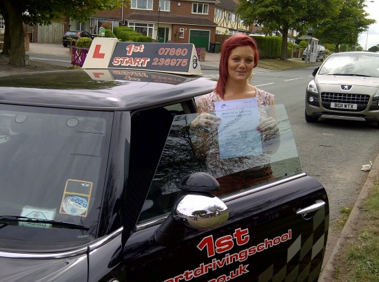 Well done on passing your driving test 3 minor faults