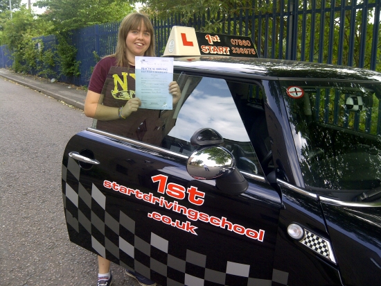 congratulations on passing your driving test with 3 minor faults well done
