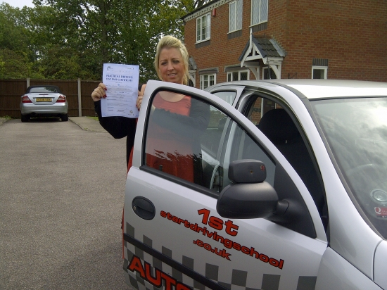 Well done Emma congratulations on passing your driving test