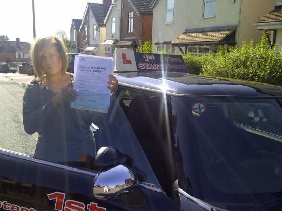 Congratulations on passing your driving test with just 1 minor fault