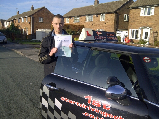 Congratulations Dan on passing your driving test <br /> <br /> well done