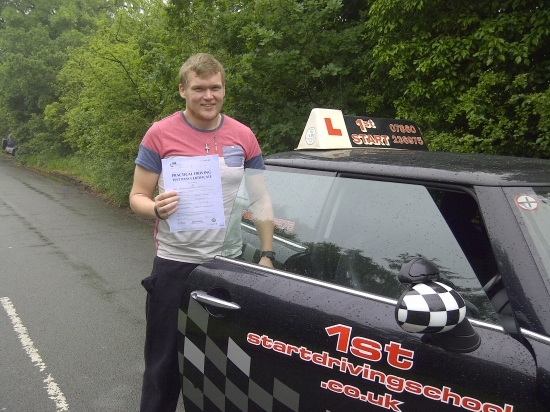 Well done passed your driving test with no faults congratulations