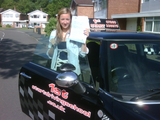Well done Sammy on passing your driving test