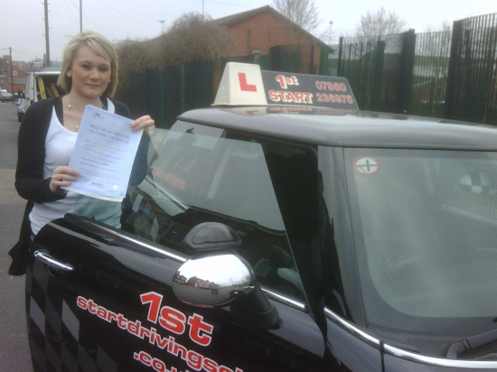 Congratulations on passing your driving test Kerry well done