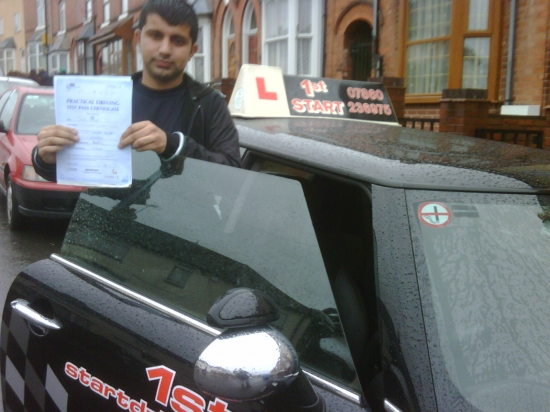 Well done on passing your driving test