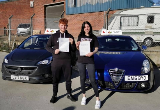 Our first double pass! Two students passing at the same time, well done everyone!
