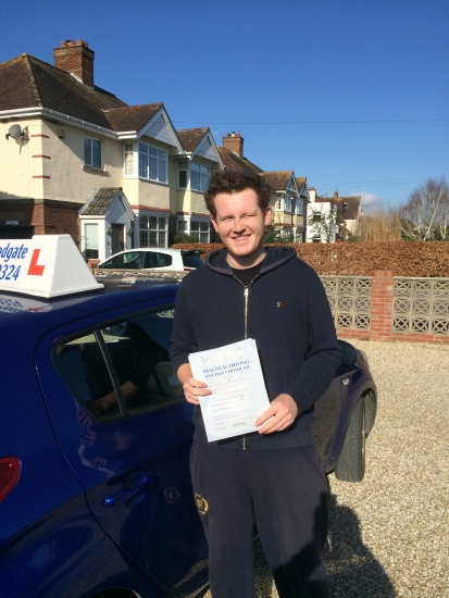 Well done Connor - 2 minor faults