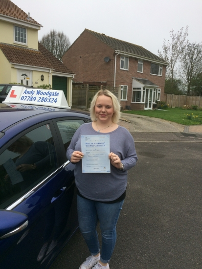 Great drive Vicky and only 4 minor driving faults <br />
