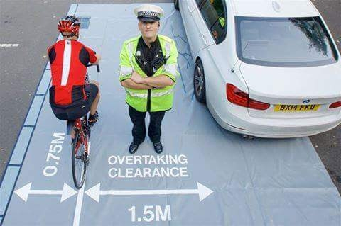 passing cyclist distance