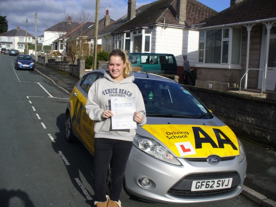 Well done Bess on passing your test