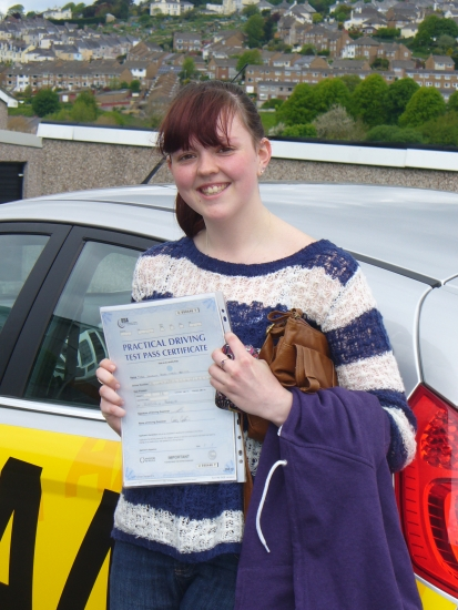 Congratulations to Jess on passing her test 1st time