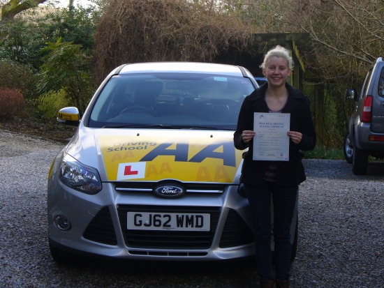 Congratulations to Lottie on her first time pass