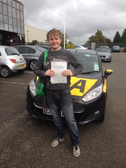 Well done Luke on passing your test