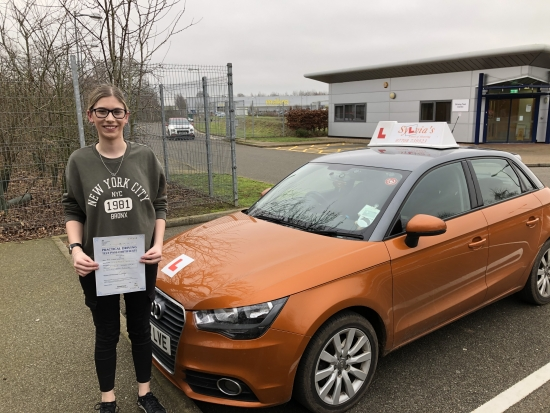 """""""A massive thank you to Sylvia for getting me through my driving test, with only 1 minor.  I never thought I say that. Sylvia is very supportive and patient. After many hours together learning I can say without a doubt that she is kind, considerate and taught me how to be more self confident. I will certainly miss our lessons together"""""""