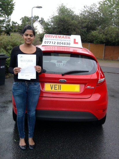 Well done Zeba on passing your driving test today You struggled at times but your detemination has payed off and you got there in the end Drive Safe