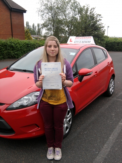 Congratulations Grace A well deserved first time pass today Hopefully see you soon for a Pass Plus course before you drive on the motorway to start University Once again well done and drive safe