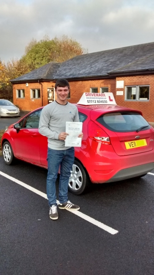 Well done Ben Passed you driving test first time only a month after your 17th birthday and with only 3 minor faults<br />