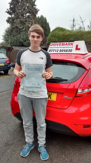 Well done Bruce Passed your driving test first time today in the pouring rain A well deserved pass Drive Safe mate