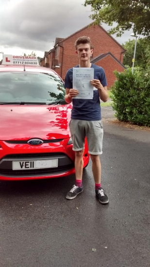 Well done Connor Passed your driving test with probably one of the strictest driving examiners in Worcester Good luck with your new job and Drive Safe