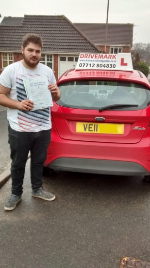 Well done Dave Passed your driving test first time today with only 1 minor fault Great result take care mate driving around in your Fiat Stilo Drive Safe