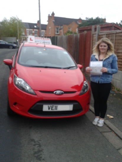 Congratulations Frankie on passing your driving test first time today Hopefully youacute;ll be out and about soon in your Toyota Aygo Well done Drive Safe