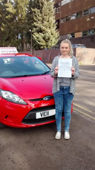 Well done Hannah Passed your driving test first time today with the strictest examiner in Worcester and made only 3 minor faults Great result Drive Safe