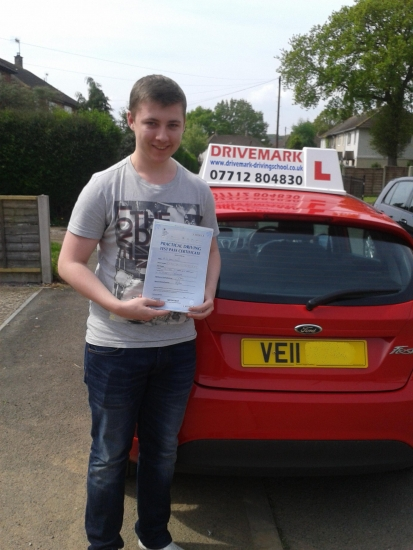 Well done Jack passed your driving test today with only 2 minor faults Take care mate and Drive Safe