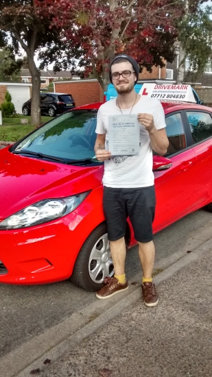 Well done Kieran passed your test first time today with only 3 minor faults Nice one mate Drive Safe