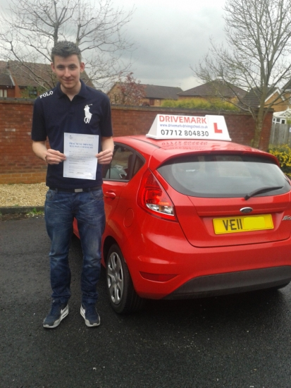 Well done Lewis on passing your driving test first time even in the pouring rain Its been a pleasure to teach you hopefully Ill see you driving around in your Peugeot very soon Drive Safe mate